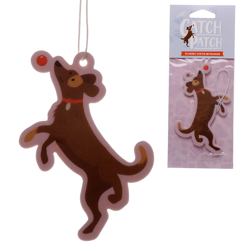 Catch Patch Blueberry Scented Dog with Ball Air Freshener