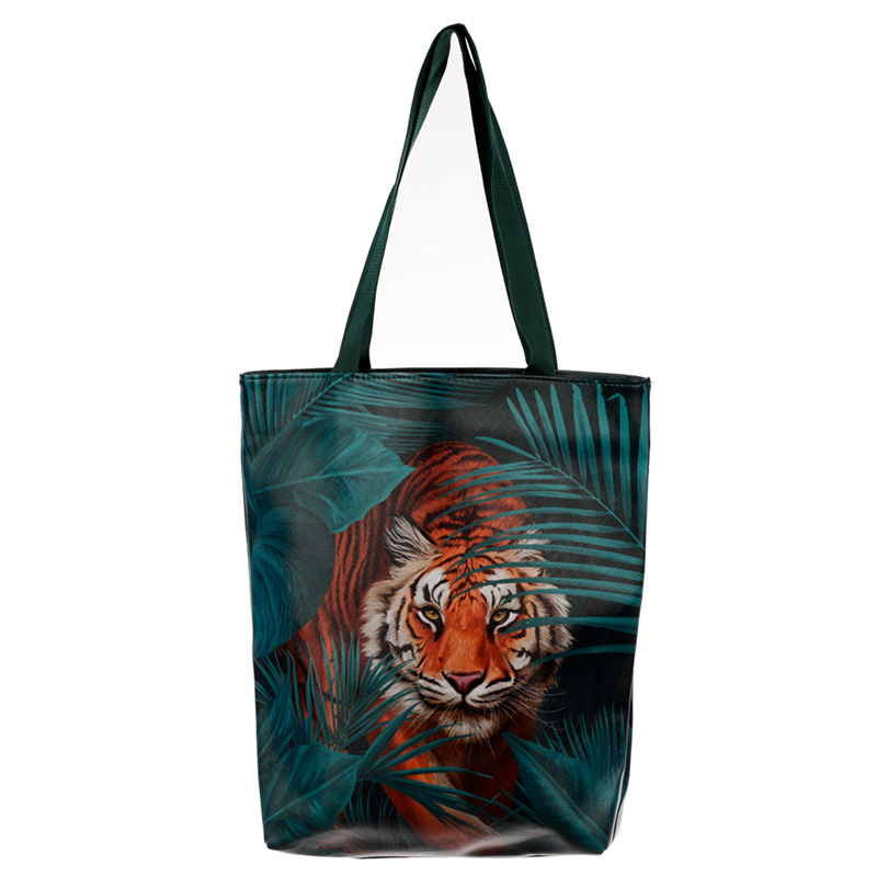 Spots and Stripes Big Cat Tote Shopping Bag