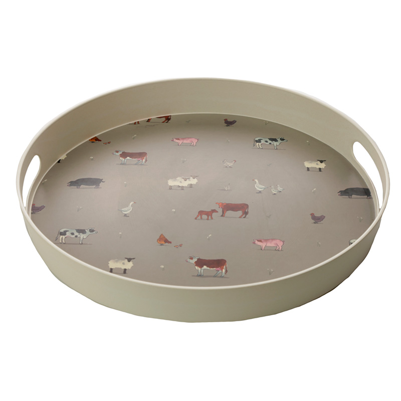Willow Farm Reusable Bamboo Composite Large Round Tray
