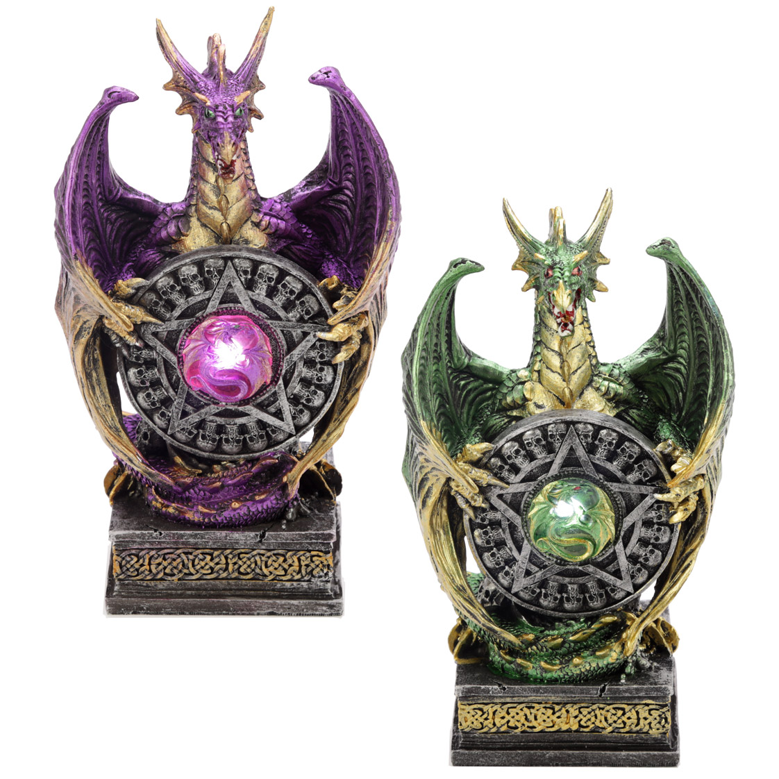 LED Mystical Vortex Dark Legends Dragon Figurine