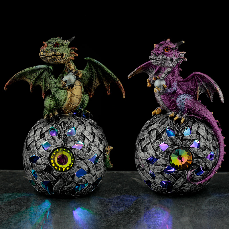 LED Celtic Orb Elements Dragon Figurine