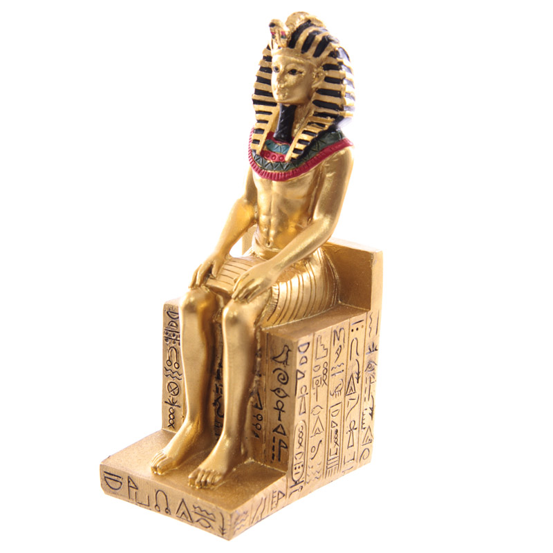 Decorative Gold Egyptian Seated Ramases Figurine