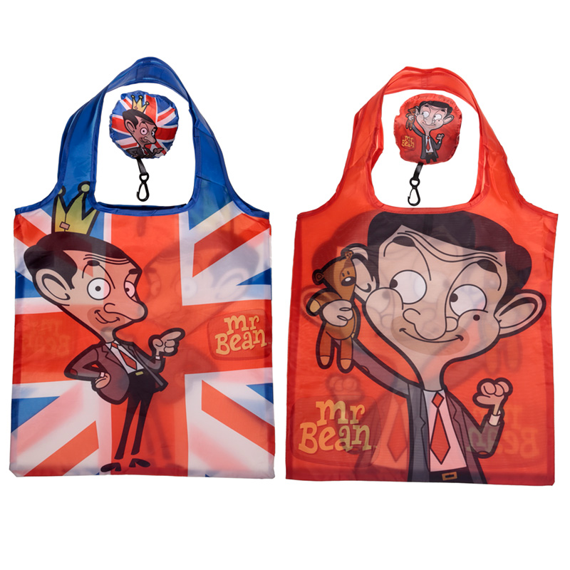 Handy Fold Up Mr Bean Shopping Bag with Holder