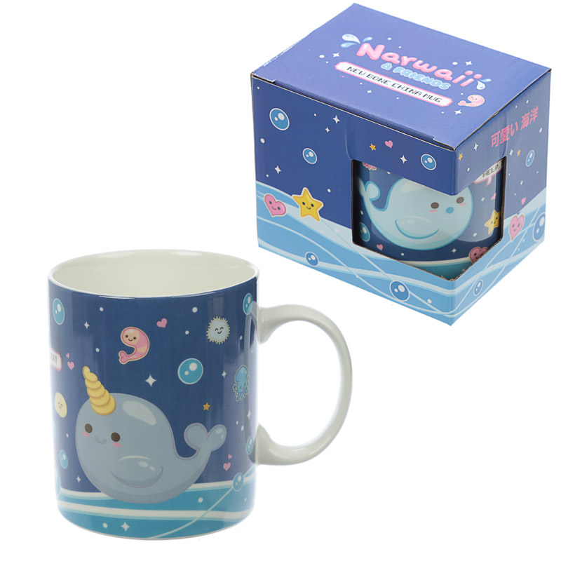 Collectable Porcelain Mug - Narwaii & Friends Narwhal Design