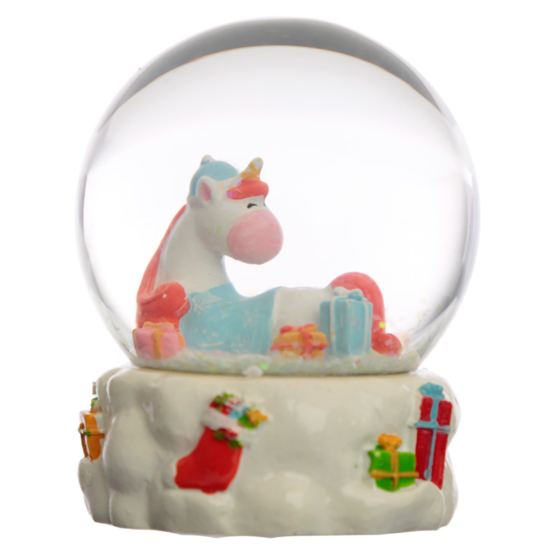 Collectable Chritmas Unicorn Snow Globe Waterball